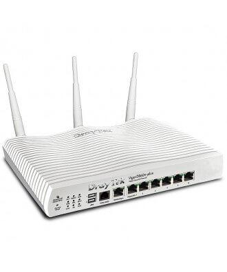 DrayTek 2860n+ VDSL2 dual WAN modemrouter analoog