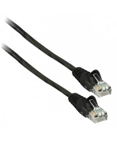 UTP-kabel - 1 meter CAT5e straight Zwart