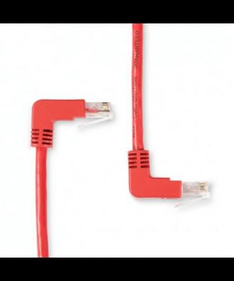 UTP-kabel - 0.3 meter CAT5e straight Rood haaks