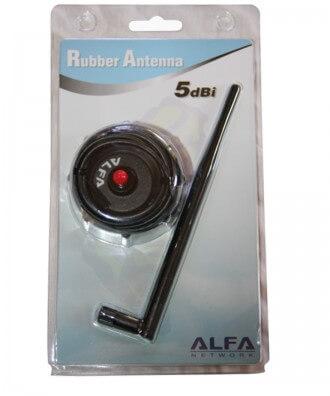 Alfa ARS-H002 5 dBi rubber dipole antenne op magneetvoet 2,4 GHz