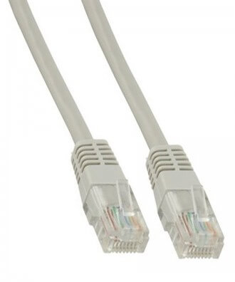UTP-kabel - 3 meter CAT5e straight Grijs