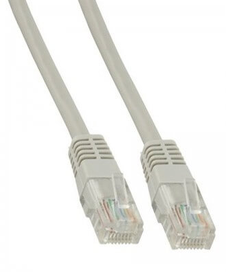 UTP-kabel - 10 meter CAT5e straight Grijs