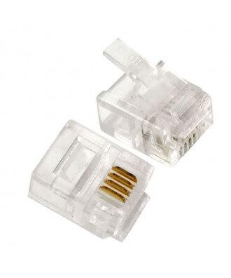 UTP-connectoren (RJ11) 20 stuks