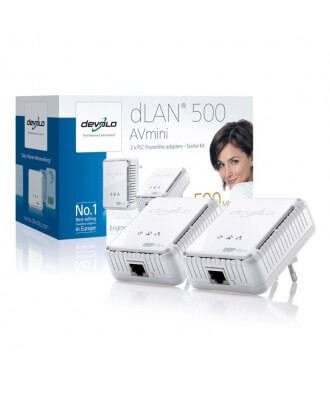 Devolo DLAN 500 AVmini Powerline Starter Kit